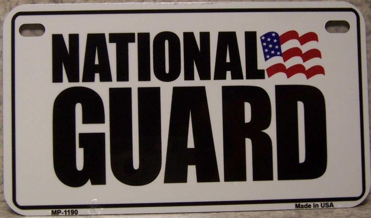 U S Army National Guard Aluminum Motorcycle License Plate thumbnail