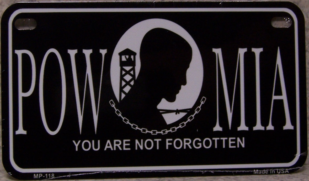 POW MIA Aluminum Motorcycle License Plate thumbnail