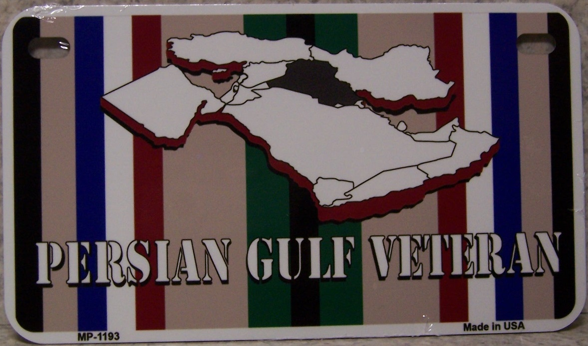 Persian Gulf Veteran Aluminum Motorcycle License Plate thumbnail