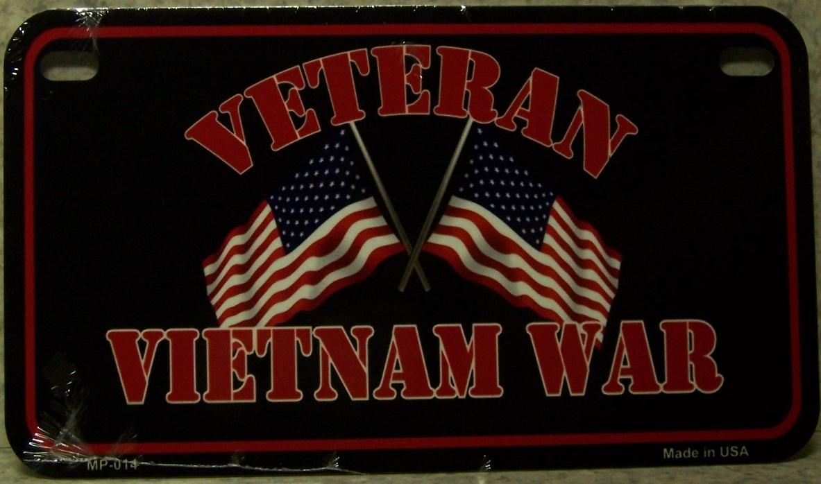 Vietnam Veteran Aluminum Motorcycle License Plate thumbnail
