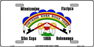 Cheyenne River Sioux Tribe Aluminum Native American License Plate thumbnail