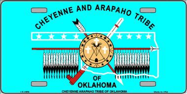 Cheyenne and Arapaho Tribe Aluminum Native American License Plate thumbnail