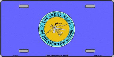 Choctaw Nation Aluminum Native American License Plate From