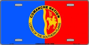 Comanche Nation Aluminum Native American License Plate thumbnail