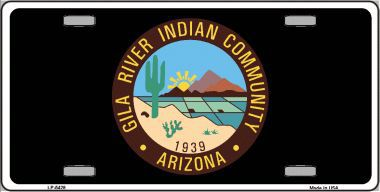 Gila River Indian Community Aluminum Native American License Plate thumbnail