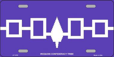 Iroquois Confederacy Aluminum Native American License Plate thumbnail