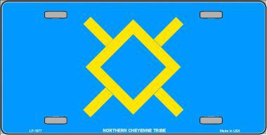 Northern Cheyenne Tribe Aluminum Native American License Plate thumbnail