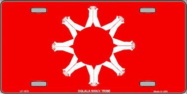 Oglala Sioux Tribe Aluminum Native American License Plate thumbnail