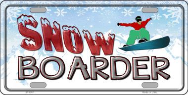 Snow Boarder Guy Aluminum License Plate America at Play thumbnail