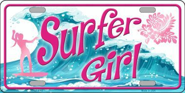 Surfer Girl Aluminum License Plate America at Play thumbnail