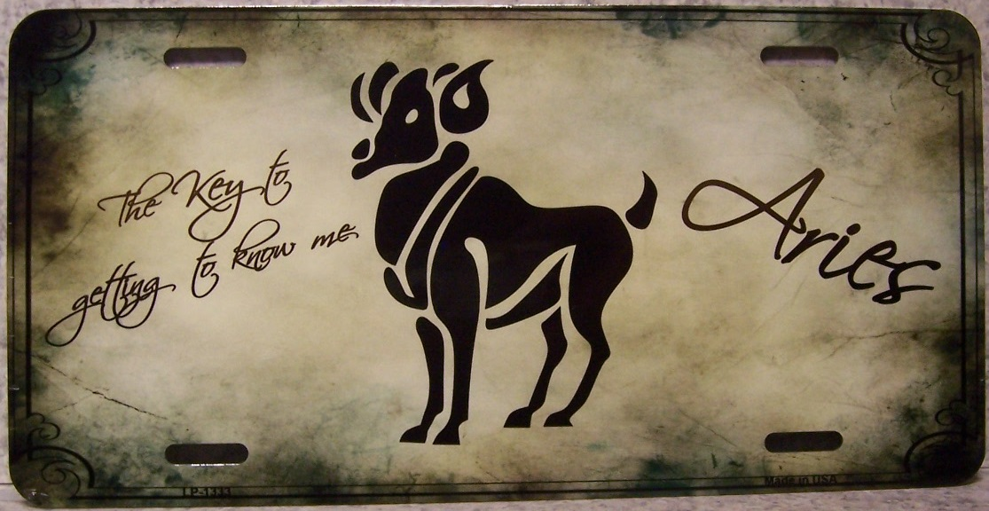 Aries Aluminum Zodiac License Plate thumbnail