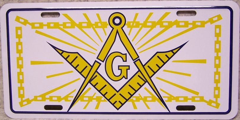 Masonic Aluminum License Plate thumbnail