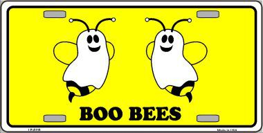 Boo Bees Halloween Aluminum License Plate thumbnail