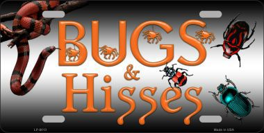 Bugs and Hisses Halloween Aluminum License Plate thumbnail