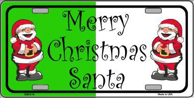 Merry Christmas Aluminum License Plate thumbnail