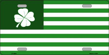 Shamrock Flag Saint patricks Day Aluminum License Plate thumbnail