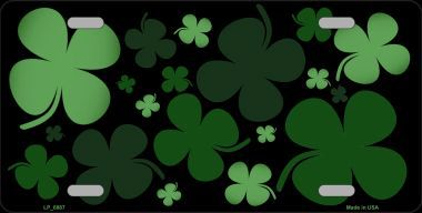 Assorted Shamrocks Saint patricks Day Aluminum License Plate thumbnail