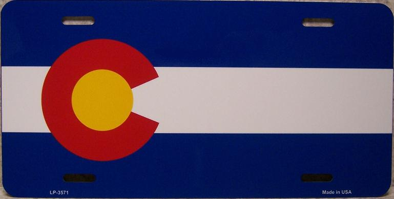 Colorado State Flag Aluminum License Plate thumbnail