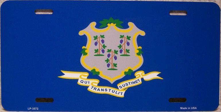 Connecticut State Flag Aluminum License Plate thumbnail