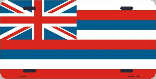 Hawaii State Flag Aluminum License Plate thumbnail