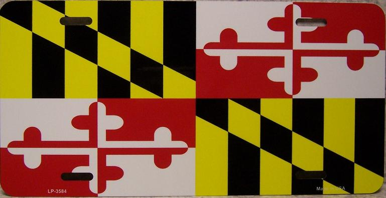 Maryland State Flag Aluminum License Plate thumbnail