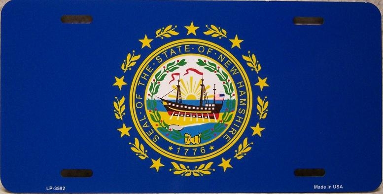New Hampshire State Flag Aluminum License Plate thumbnail