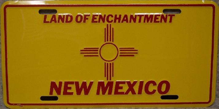 New Mexico State Flag Aluminum License Plate thumbnail