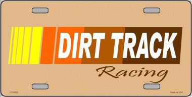 Dirt Track Racing Aluminum License Plate thumbnail