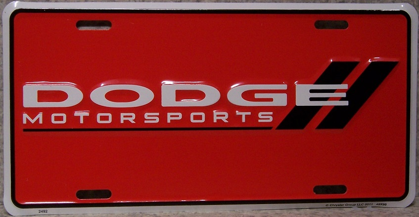 Dodge Motorsports Aluminum License Plate thumbnail