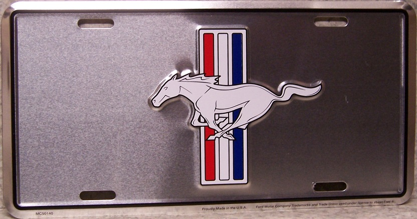 Ford Mustang Aluminum License Plate thumbnail