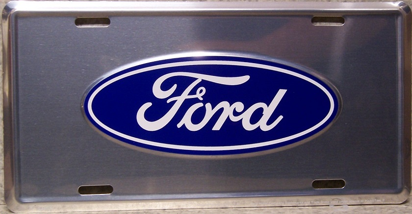 Ford Oval Aluminum License Plate thumbnail