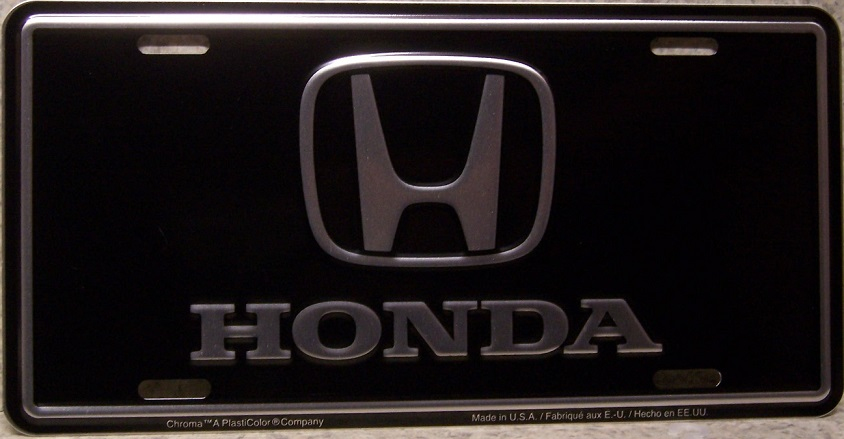 Honda Aluminum License Plate thumbnail