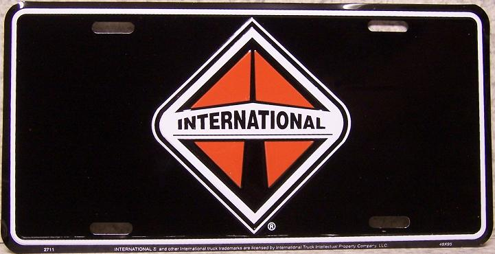 International Trucks Aluminum License Plate thumbnail