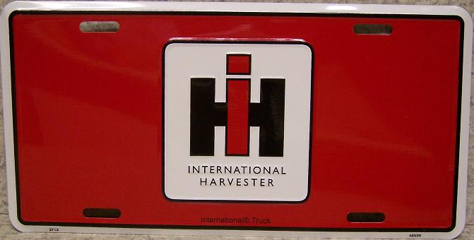 International Harvester Tractors Aluminum License Plate thumbnail