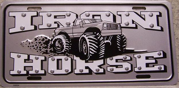Iron Horse Monster Truck Aluminum License Plate thumbnail
