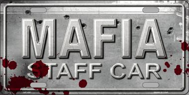 MAFIA Staff Car Aluminum License Plate thumbnail