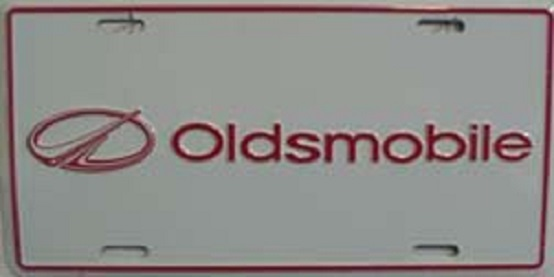 Oldsmobile Aluminum License Plate thumbnail