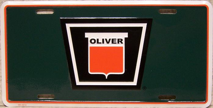 Oliver Tractors Aluminum License Plate thumbnail