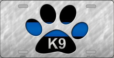 K-9 Police Aluminum License Plate America at Work thumbnail
