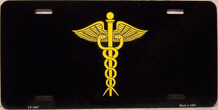 Medical Caduceus Aluminum License Plate America at Work thumbnail