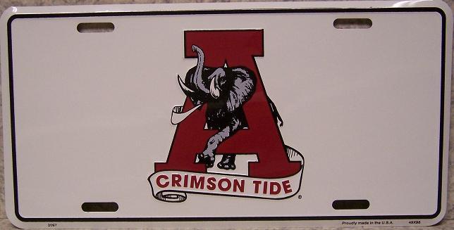 Alabama Crimson Tide NCAA Aluminum National Collegiate Athletic Association License Plate thumbnail