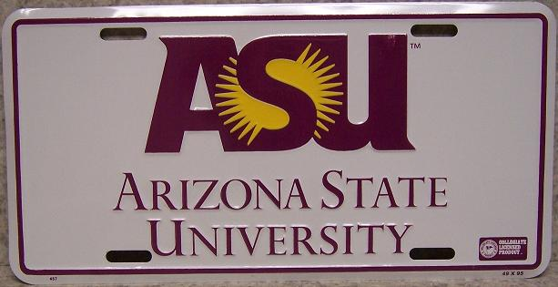 Arizona State Sun Devils NCAA Aluminum National Collegiate Athletic Association License Plate thumbnail