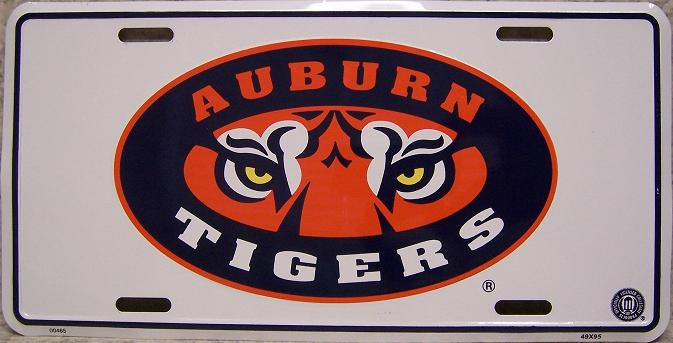 Auburn Tigers NCAA Aluminum National Collegiate Athletic Association License Plate thumbnail