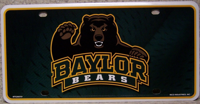 Baylor University Bears NCAA Aluminum National Collegiate Athletic Association License Plate thumbnail