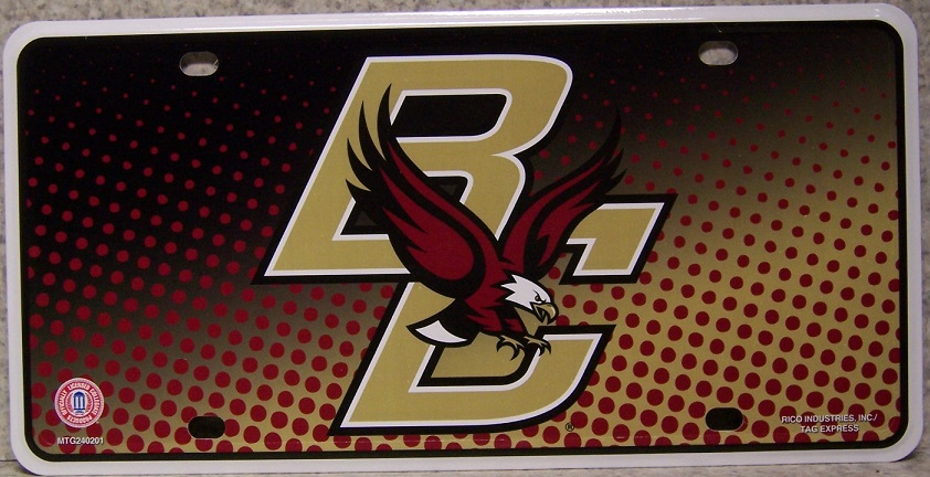 Boston College Eagles NCAA Aluminum National Collegiate Athletic Association License Plate thumbnail