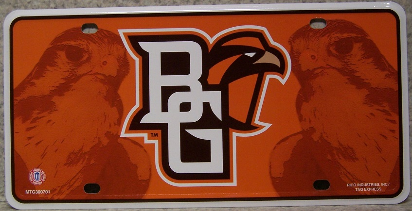 Bowling Green Falcons NCAA Aluminum National Collegiate Athletic Association License Plate thumbnail