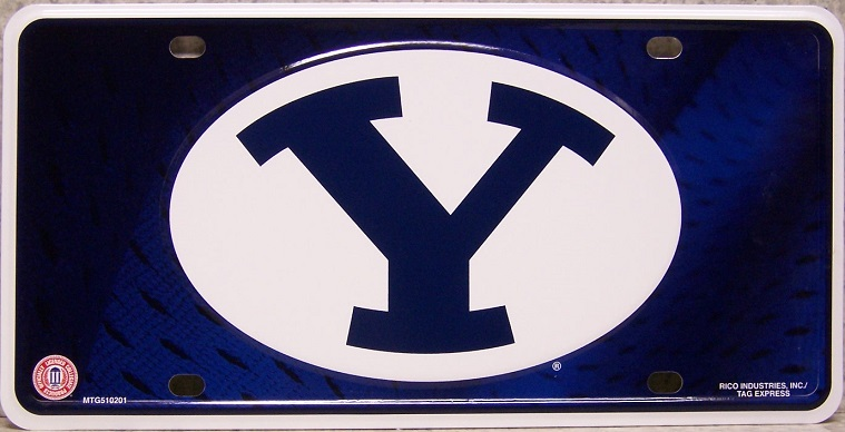 Brigham Young Cougars NCAA Aluminum National Collegiate Athletic Association License Plate thumbnail
