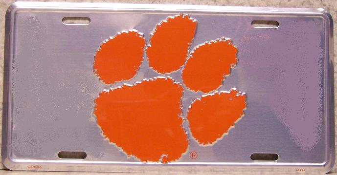 Clemson Tigers NCAA Aluminum National Collegiate Athletic Association License Plate thumbnail