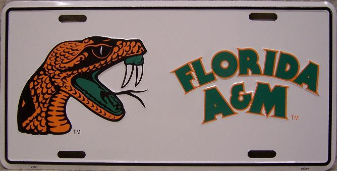 Florida A and M Rattlers NCAA Aluminum National Collegiate Athletic Association License Plate thumbnail