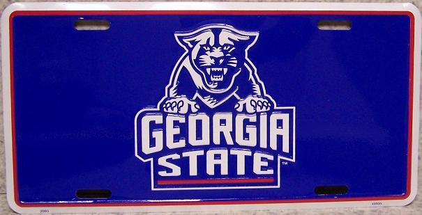 Georgia State Panthers NCAA Aluminum National Collegiate Athletic Association License Plate thumbnail